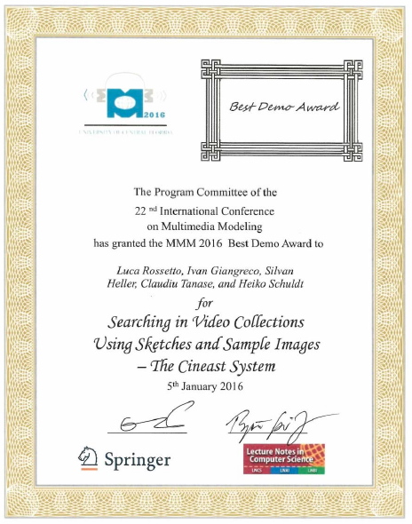 MMM Demo Award